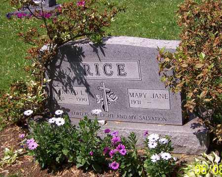 RICE, MARY JANE - Stark County, Ohio | MARY JANE RICE - Ohio Gravestone Photos