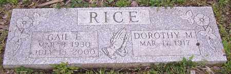 RICE, DOROTHY M. - Stark County, Ohio | DOROTHY M. RICE - Ohio Gravestone Photos