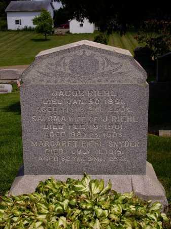 RIEHL, FAMILY MONUMENT - Stark County, Ohio | FAMILY MONUMENT RIEHL - Ohio Gravestone Photos