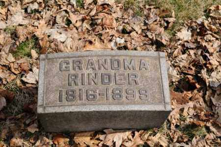 RINDER, CATHERINE - Stark County, Ohio | CATHERINE RINDER - Ohio Gravestone Photos