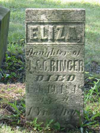 RINGER, ELIZA - Stark County, Ohio   ELIZA RINGER - Ohio Gravestone Photos