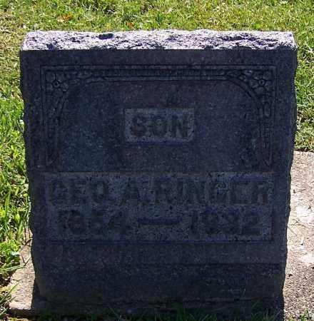RINGER, GEO. A. - Stark County, Ohio | GEO. A. RINGER - Ohio Gravestone Photos