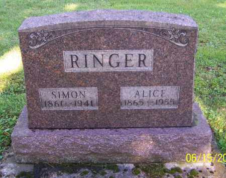 RINGER, ALICE - Stark County, Ohio | ALICE RINGER - Ohio Gravestone Photos