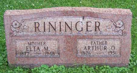 HILL RININGER, ELTA M. - Stark County, Ohio | ELTA M. HILL RININGER - Ohio Gravestone Photos