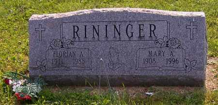 RININGER, FLORIAN A. - Stark County, Ohio | FLORIAN A. RININGER - Ohio Gravestone Photos