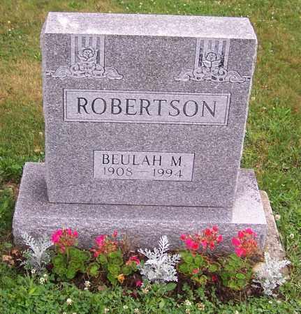 ROBERTSON, BEULAH M. - Stark County, Ohio | BEULAH M. ROBERTSON - Ohio Gravestone Photos