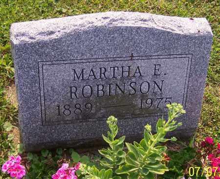 ROBINSON, MARTHA E. - Stark County, Ohio   MARTHA E. ROBINSON - Ohio Gravestone Photos