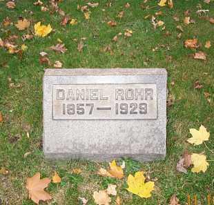 ROHR, DANIEL - Stark County, Ohio   DANIEL ROHR - Ohio Gravestone Photos