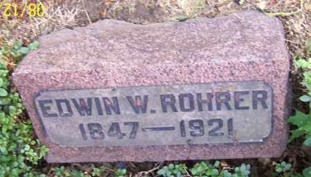 ROHRER, EDWIN W. - Stark County, Ohio | EDWIN W. ROHRER - Ohio Gravestone Photos
