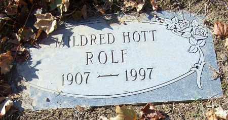 ROLF, MILDRED HOTT - Stark County, Ohio | MILDRED HOTT ROLF - Ohio Gravestone Photos