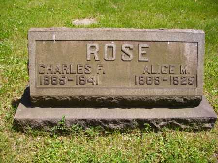 ROSE, CHARLES FOREST - Stark County, Ohio   CHARLES FOREST ROSE - Ohio Gravestone Photos
