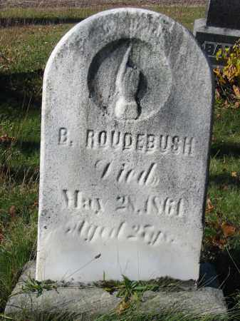 ROUDEBUSH, BENJAMIN - Stark County, Ohio | BENJAMIN ROUDEBUSH - Ohio Gravestone Photos