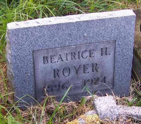 ROYER, BEATRICE H. - Stark County, Ohio | BEATRICE H. ROYER - Ohio Gravestone Photos