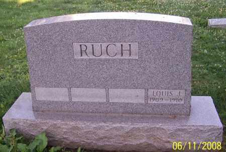RUCH, LOUIS J. - Stark County, Ohio   LOUIS J. RUCH - Ohio Gravestone Photos