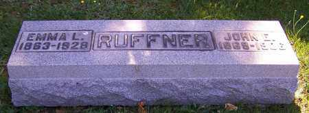 RUFFNER, EMMA L. - Stark County, Ohio | EMMA L. RUFFNER - Ohio Gravestone Photos