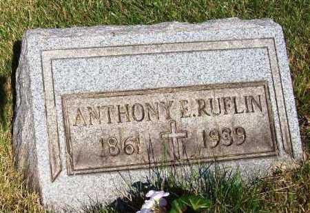 RUFLIN, ANTHONY E. - Stark County, Ohio | ANTHONY E. RUFLIN - Ohio Gravestone Photos