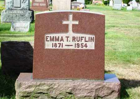 RUFLIN, EMMA T. - Stark County, Ohio   EMMA T. RUFLIN - Ohio Gravestone Photos