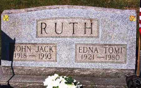 "RUTH, EDNA ""TOMI"" - Stark County, Ohio | EDNA ""TOMI"" RUTH - Ohio Gravestone Photos"