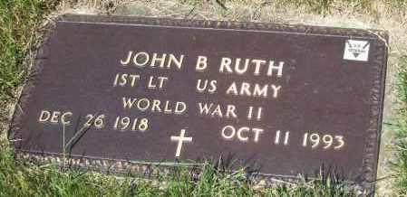 RUTH, JOHN B. - Stark County, Ohio | JOHN B. RUTH - Ohio Gravestone Photos