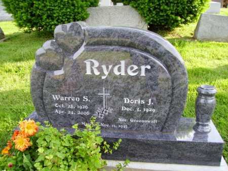 RYDER, DORIS J. - Stark County, Ohio | DORIS J. RYDER - Ohio Gravestone Photos