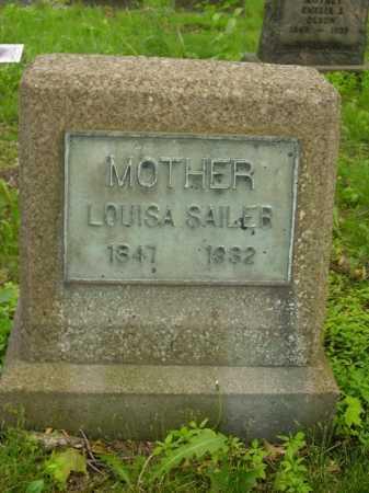 SAILER, LOUISA - Stark County, Ohio   LOUISA SAILER - Ohio Gravestone Photos