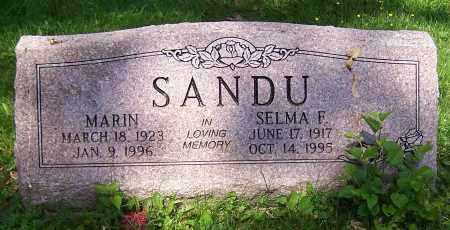 SANDU, SELMA F - Stark County, Ohio   SELMA F SANDU - Ohio Gravestone Photos