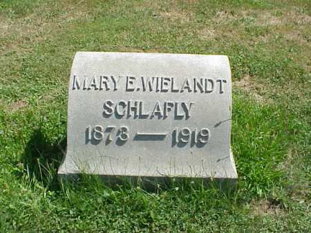 WIELANDT SCHLAFLY, MARY - Stark County, Ohio | MARY WIELANDT SCHLAFLY - Ohio Gravestone Photos