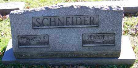 SCHNEIDER, EDWARD F. - Stark County, Ohio | EDWARD F. SCHNEIDER - Ohio Gravestone Photos