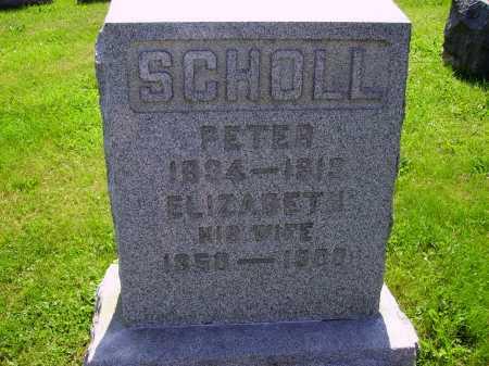 SCHOLL, ELIZABETH - Stark County, Ohio   ELIZABETH SCHOLL - Ohio Gravestone Photos