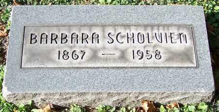 SCHOLVIEN, BARBARA - Stark County, Ohio | BARBARA SCHOLVIEN - Ohio Gravestone Photos
