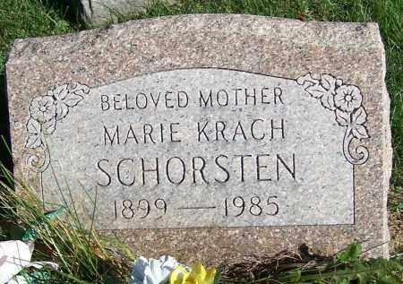 SCHORSTEN, MARIE KRACH - Stark County, Ohio | MARIE KRACH SCHORSTEN - Ohio Gravestone Photos