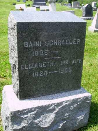SCHRAEDER, BARNHARD BAINI - Stark County, Ohio | BARNHARD BAINI SCHRAEDER - Ohio Gravestone Photos