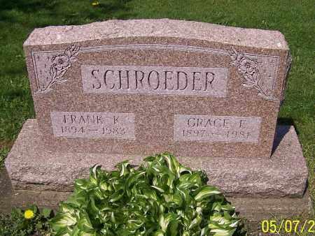 SCHROEDER, FRANK K. - Stark County, Ohio | FRANK K. SCHROEDER - Ohio Gravestone Photos