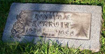 SCHROTT, DONALD E. - Stark County, Ohio | DONALD E. SCHROTT - Ohio Gravestone Photos