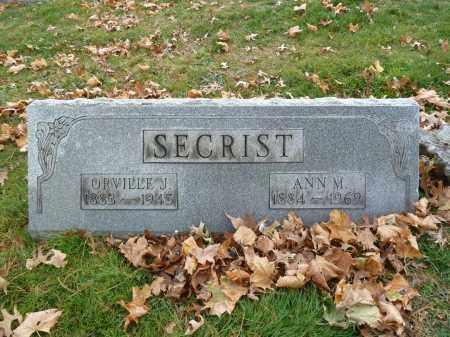 SECRIST, ANN M. - Stark County, Ohio | ANN M. SECRIST - Ohio Gravestone Photos