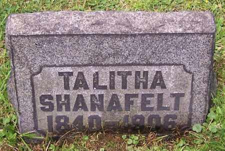 SHANAFELT, TALITHA - Stark County, Ohio   TALITHA SHANAFELT - Ohio Gravestone Photos