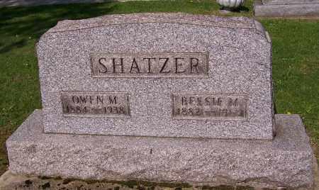 SHATZER, OWEN M. - Stark County, Ohio | OWEN M. SHATZER - Ohio Gravestone Photos