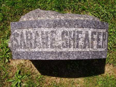 SHEAFER, SARAH E. - TOP VIEW - Stark County, Ohio | SARAH E. - TOP VIEW SHEAFER - Ohio Gravestone Photos
