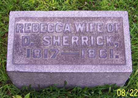 SHERRICK, REBECCA - Stark County, Ohio   REBECCA SHERRICK - Ohio Gravestone Photos