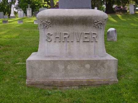 SHRIVER, MONUMENT - Stark County, Ohio | MONUMENT SHRIVER - Ohio Gravestone Photos