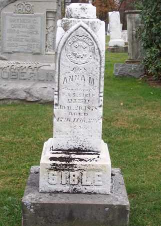 SIBLE, ANNA M. - Stark County, Ohio   ANNA M. SIBLE - Ohio Gravestone Photos