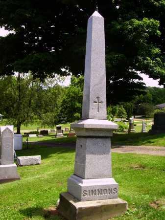 SIMMONS, MONUMENT - JACOB & ANNA - Stark County, Ohio | MONUMENT - JACOB & ANNA SIMMONS - Ohio Gravestone Photos