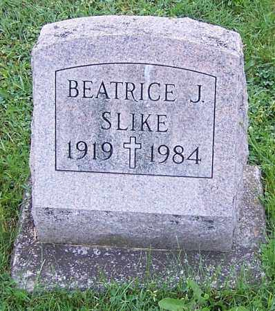 SLIKE, BEATRICE J. - Stark County, Ohio   BEATRICE J. SLIKE - Ohio Gravestone Photos