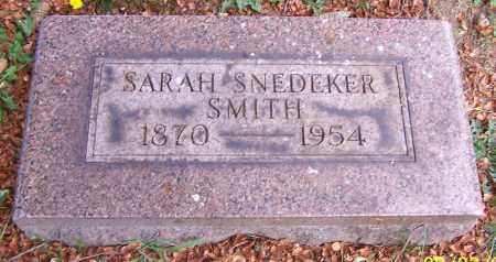 SMITH, SARAH SNEDEKER - Stark County, Ohio | SARAH SNEDEKER SMITH - Ohio Gravestone Photos