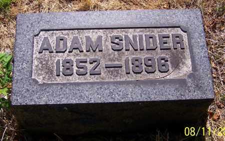 SNIDER, ADAM - Stark County, Ohio   ADAM SNIDER - Ohio Gravestone Photos
