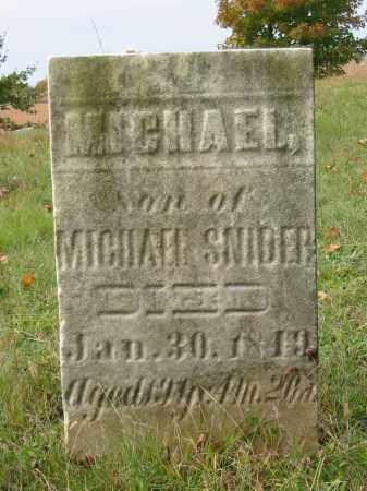 SNIDER, MICHAEL - Stark County, Ohio   MICHAEL SNIDER - Ohio Gravestone Photos