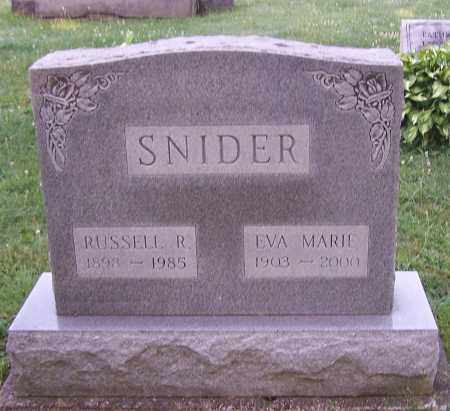 SNIDER, RUSSELL R. - Stark County, Ohio | RUSSELL R. SNIDER - Ohio Gravestone Photos