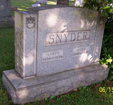 STUCKEY SNYDER, ADDIE - Stark County, Ohio   ADDIE STUCKEY SNYDER - Ohio Gravestone Photos