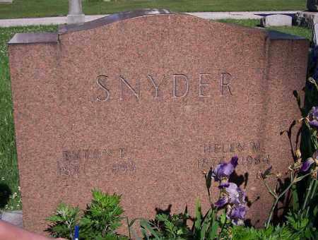 SNYDER, HELEN M. - Stark County, Ohio | HELEN M. SNYDER - Ohio Gravestone Photos