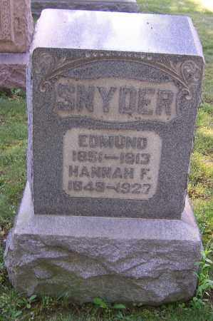 SNYDER, HANNAH F. - Stark County, Ohio | HANNAH F. SNYDER - Ohio Gravestone Photos